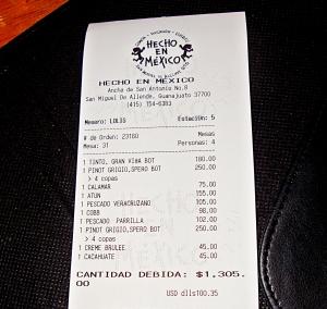 hecho en mexico the bill