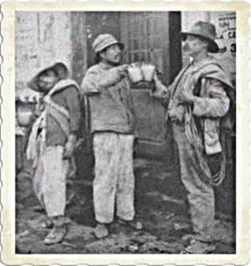 pulque drinkers clinking