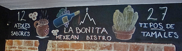 la bonita blackboard sign
