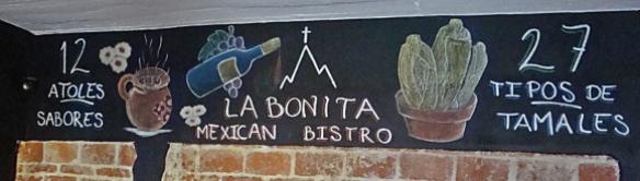 la bonita blackboard sign