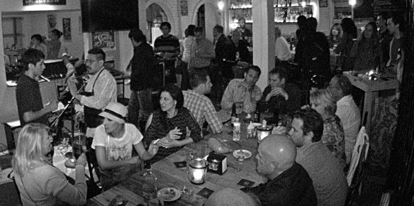 santos bar and crowd