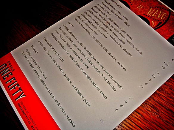drake menu