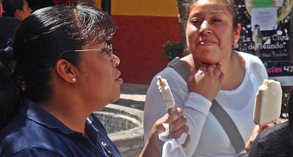 paletas two women on street