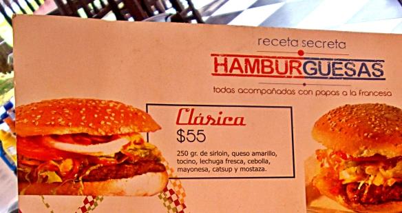 ruta 111 hamburger on menu
