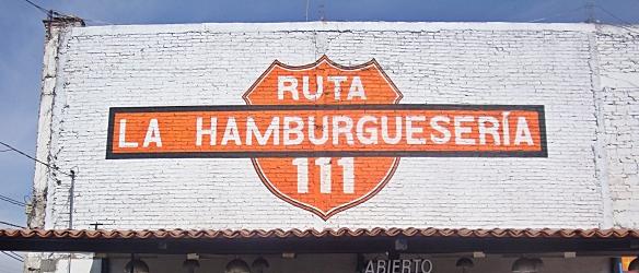 ruta 111 main sign